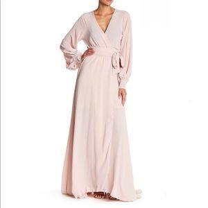 Meghan LA Faux Wrap Maxi Dress Size Large